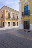 Historische Architektur von im Stadtzentrum gelegenem Campeche Lizenzfreies Stockfoto