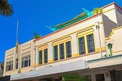 Historische Art Deco-voorgevels Napier, Nieuw Zeeland royalty-vrije stock afbeeldingen