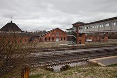 Historische Bürgerkrieg-Bahnstation in Martinsburg, W Lizenzfreie Stockfotos