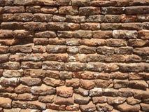 Historische Backsteinmauer Stockbild