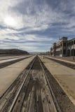 Historische Bahnstation und Bahnen Barstow Lizenzfreie Stockfotografie