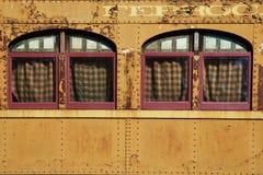 Historische Bahnwagen Stockfotografie