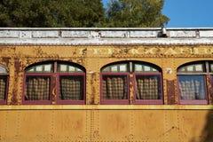 Historische Bahnwagen Lizenzfreie Stockfotografie
