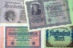 Historische Banknoten Stockbild