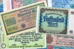 Historische Banknoten Stockbilder