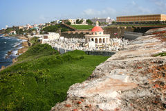 Historische Begraafplaats in Castillo San Felipe del Morro Stock Foto's