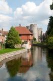 Historische bezinningen in Canterbury Stock Afbeelding