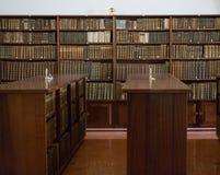 Historische boeken van de 16de eeuw in Joanina Library Stock Foto's