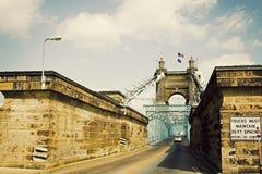Historische Brücke in Cincinnati, Ohio stockfoto