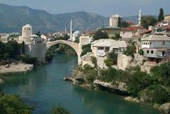 Historische Brücke von Mostar Stockbild
