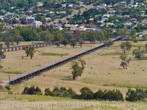 Historische briges in Gundagai in Australien stockfotos
