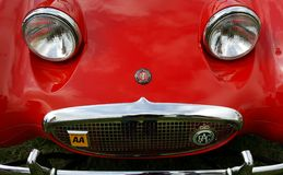 Historische Britse Auto Austin Healy Sprite Stock Foto