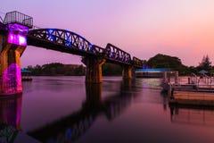 Historische brug over de rivier Kwai Royalty-vrije Stock Foto