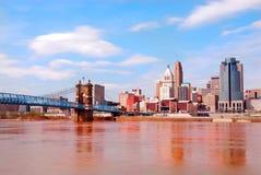 Historische Brug Roebling Royalty-vrije Stock Afbeeldingen