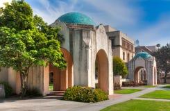 Historische campusgebouwen van Caltech in Pasadena, Californië. Stock Fotografie