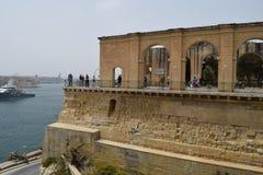 Historische centrum en gebouwen in Valletta, Malta Royalty-vrije Stock Fotografie