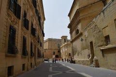 Historische centrum en gebouwen in Valletta, Malta Royalty-vrije Stock Afbeelding
