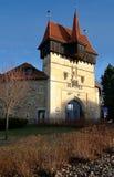Historische centrumstad Louny Royalty-vrije Stock Afbeeldingen