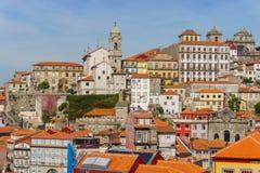 Historische centrumstad van Porto Royalty-vrije Stock Afbeeldingen