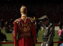 Historische Chinese kleren Royalty-vrije Stock Afbeelding