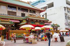 Historische Chinese Tempel in Singapore Royalty-vrije Stock Afbeelding