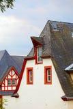Historische daken royalty-vrije stock afbeelding