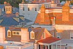 Historische daken van Charleston Stock Afbeeldingen