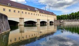 Historische Dam bij & x22; englischer garten& x22; Stock Fotografie