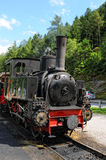 Historische Dampflokomotive auf Achensee Seeeisenbahn in Tirol Lizenzfreie Stockfotos