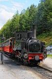 Historische Dampflokomotive auf Achensee Seeeisenbahn in Tirol Stockfotos