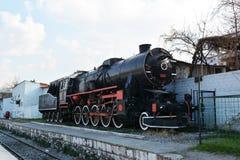 Historische Dampflokomotive transportiert Stockfoto