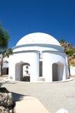 Historische de gebouwenarchitectuur van kuuroordkalithea Rhodos Griekenland Stock Foto