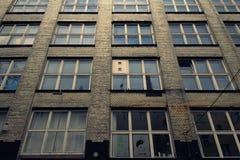 Historische de industriële bouw voorgevel in Berlijn Royalty-vrije Stock Foto