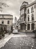 Historische de Marktgebouwen van Baku Azerbaijan Old House Street royalty-vrije stock fotografie