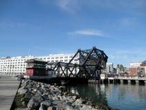 Historische 3de straatbrug met AT&T-Park op de Achtergrond Stock Afbeeldingen
