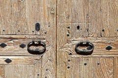 Historische deur in de stad van Mallorca Royalty-vrije Stock Foto