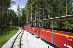 Historische Eisenbahn beim Salzburger Freilichtmuseum Stockbilder