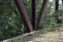 Historische Eisenbahnbrücke Marietta Ohio stockbilder