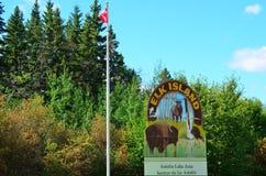 Historische Elch-Insel-Park-Reserve, Edmonton, West-Kanada Lizenzfreie Stockbilder