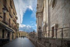 Historische en culturele stad van berichten van Spanje Stock Afbeelding