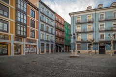 Historische en culturele stad van berichten van Spanje Stock Foto's