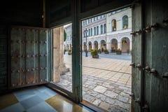 Historische en culturele stad van berichten van Spanje Stock Foto
