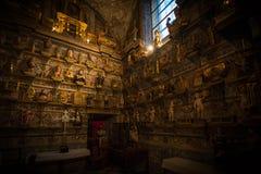 Historische en culturele stad van berichten van Spanje Stock Afbeeldingen