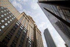 Historische en moderne gebouwen in Houston Royalty-vrije Stock Foto's