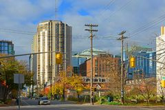 Historische en moderne Gebouwen in Ottawa, Canada Royalty-vrije Stock Fotografie