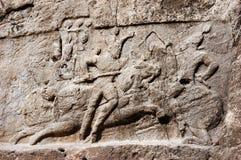 Historische Entlastung über Sieg von Bahram II, Persepolis Stockfotos