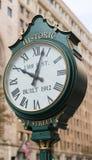 Historische f-Straßen-Uhr im Washington DC Lizenzfreie Stockbilder