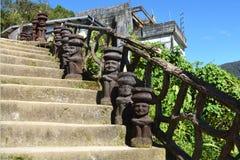 Historische Figürchen des Reis-Wächter-Gottes Bulul lizenzfreies stockbild