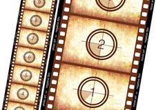 Historische filmstrook Stock Foto's
