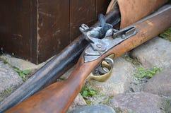 Historische Flintlockmuskete Lizenzfreie Stockfotos